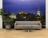 City Lit Up at Night, Edinburgh Castle, Edinburgh, Scotland Wall Mural – Large