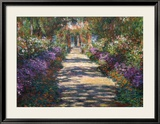 Jardin à Giverny Art par Claude Monet