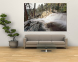 Water Flowing at a Waterfall, Emerald Bay, Lake Tahoe, California, USA Wall Mural