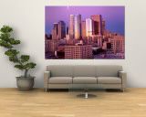 Dawn, Skyline, Los Angeles, California, USA Wall Mural