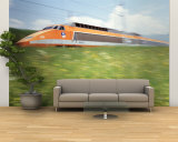 TGV High-Speed Train Moving Through Hills, Blurred Motion Wall Mural – Large