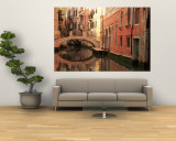 Reflection of Buildings in Water, Venice, Italy Wall Mural