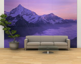 Clouds over Mountains, Swiss Alps, Switzerland Wall Mural – Large
