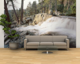 Water Flowing at a Waterfall, Emerald Bay, Lake Tahoe, California, USA Wall Mural – Large