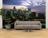 Buildings Lit Up at Dusk, Minneapolis, Minnesota, USA Wall Mural – Large