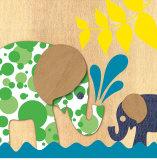Elephant Family Print by  Z Studio