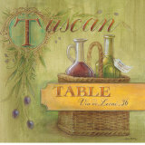 Tuscan Table Poster by Angela Staehling