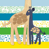 Giraffe Family Poster by  Z Studio