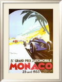 5th Grand Prix Automobile, Monaco, 1933 Posters tekijn Geo Ham