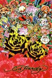 Ed Hardy - Black Rose Prints by Ed Hardy