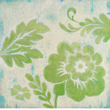 Green Floral Poster von Hope Smith