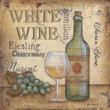 Vin blanc Posters par Kim Lewis
