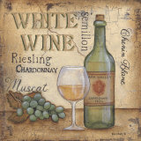 White Wine Posters by Kim Lewis