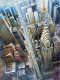 Manhattan from the Clouds I Prints by G.p. Mepas