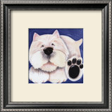 Westie Wall Art by Kate Mawdsley