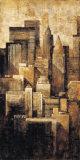New York Dusk I Art by G.p. Mepas