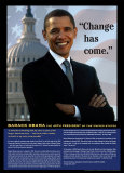 Change Has Come: Barack Obama Poster