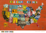 Fifty States, One Nation Print by Aaron Foster