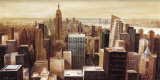New York Skyline II Art by G.p. Mepas