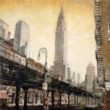The Chrysler Building from the L Prints by Mathew Daniels