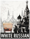 White Russian Destination Poster by Marco Fabiano