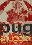 Pug Snuggler Poster von M.J. Lew