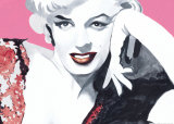 Marilyn Study with Dress Poster by Irene Celic