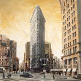 L'immeuble Flatiron Affiches par Matthew Daniels