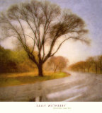 Autumn Road Poster by Sally Wetherby