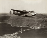 Boeing B-314 over San Francisco Bay, California 1939 Posters af Clyde Sunderland