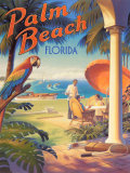 Palm Beach, Florida Pster por Kerne Erickson