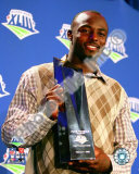 Santonio Holmes With MVP Trophy - Super Bowl XLIII Photo