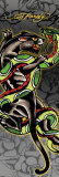 Ed Hardy - Panther and Snake Photo