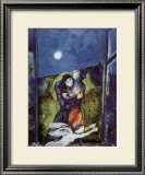 Lovers in Moonlight Print by Marc Chagall