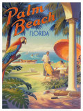 Palm Beach, Florida Print by Kerne Erickson