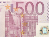 Detail of a Traditional Five Hundred Euro Banknote Photographic Print