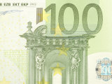 Detail of a Traditional One Hundred Euro Banknote Photographic Print