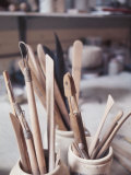 Wooden Tools for Pottery in Room in La Beauce, Canada Photographic Print