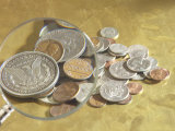 Magnifying Glass on American Coins Photographic Print