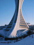 Modern Architecture of the Exterior of the Olympic Stadium in Quebec, Canada Photographic Print