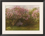 Resting Under the Lilacs Prints by Claude Monet