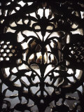 Ornate Detail of a Wrought Iron Gate in India Photographic Print