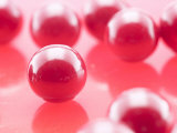 Delicious and Sweet Red Candy Gumballs Photographic Print
