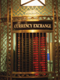 Foriegn Currency Exchange Window Showing Currency Exchange Rates, New York City, America Photographic Print