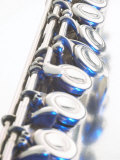Close-Up of Silver Keys on Flute Photographic Print