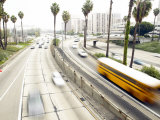 City Highway with Rushing Traffic, Santa Monica, California, Usa Photographic Print