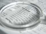 Definition of Mortgage Magnified on Page with Magnifying Glass Photographic Print
