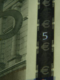 Close-Up on Detail of Euro Currency Photographic Print