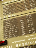 Electronic Italian Train Schedule Photographic Print