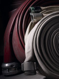 Coiled Fire Hoses Photographic Print